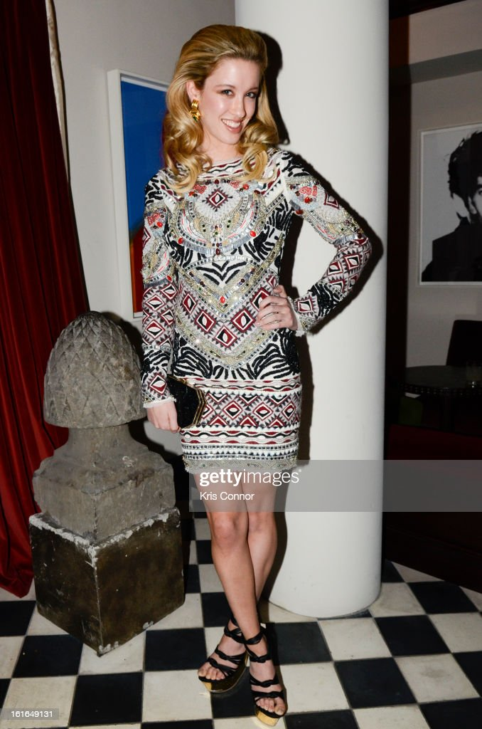 Melissa Bolona poses for a photo during the Gents Launch Party during Fall 2013 Mercedes-Benz Fashion Week at Gramercy Park Hotel on February 13, 2013 in New York City.