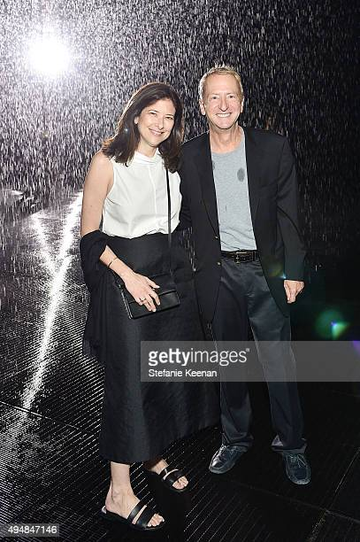 Melissa Bomes and David Bohmett attend Restoration Hardware And LACMA Celebrate West Coast Debut Of Rain Room By Random International on October 28...