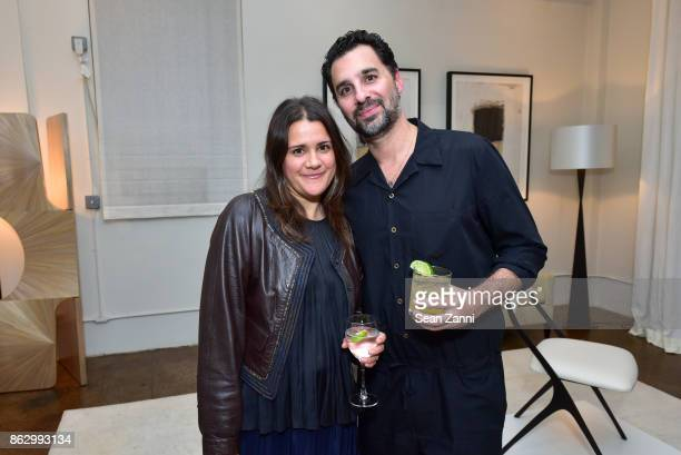 Melissa Bowers and Chris Osvai attend Tom Faulkner at Angela Brown Ltd on October 18 2017 in New York City