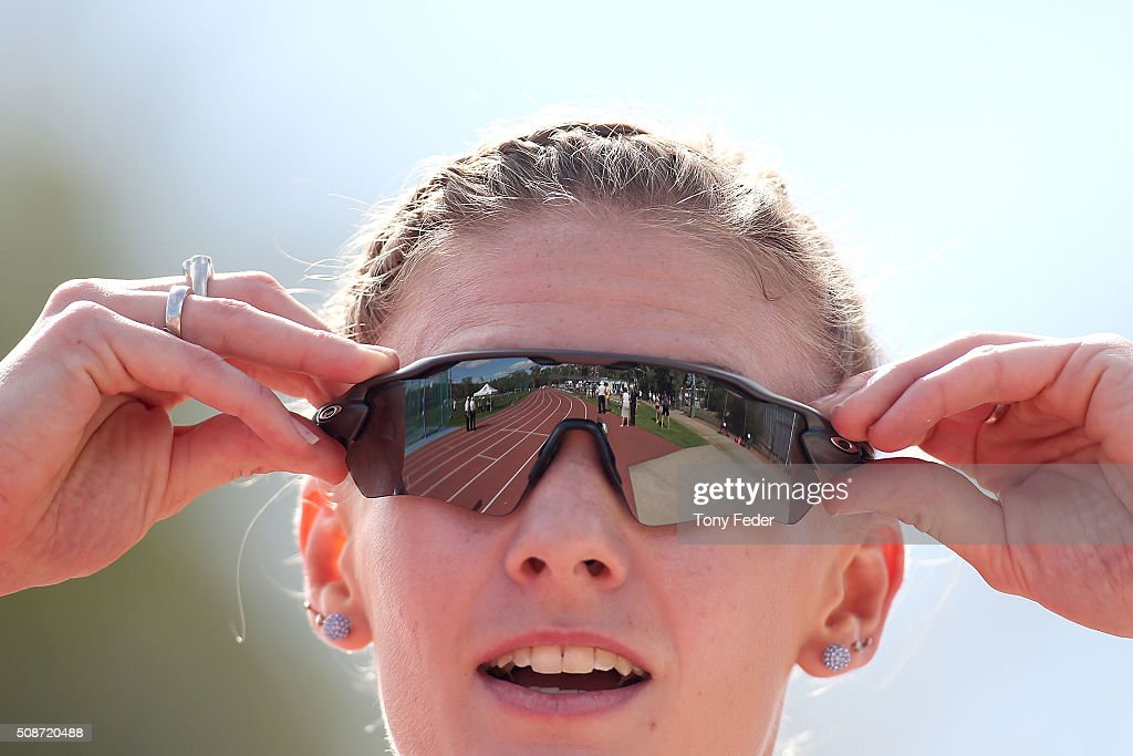 Melissa Breen of Athletics AC after winning the womens 100 metres final during the IPC Athletics Grand Prix on February 6, 2016 in Canberra, Australia.