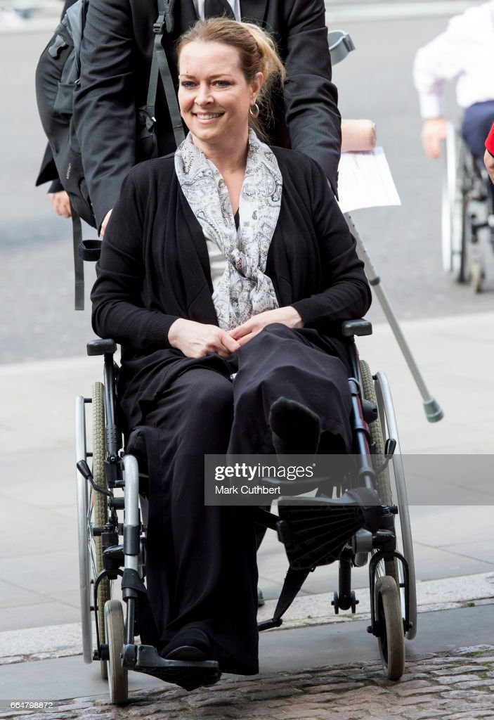 Melissa Cochran, who was injured and widowed during the Westminster terror attack attends Service of Hope at Westminster Abbey on April 5, 2017 in London, England. The service was held in memory of those who lost their lives in the Westminster terror attack on 22 March, 2017.