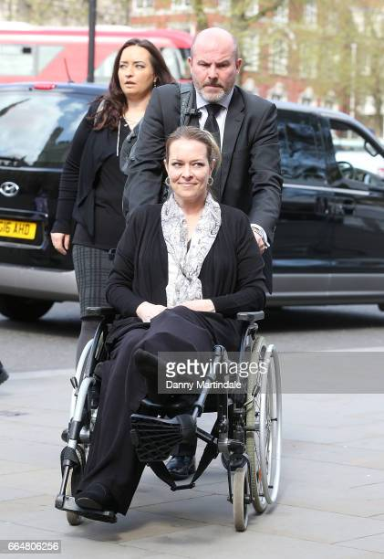 Melissa Cochran wife of Kurt Cochran who died in the attacks attends Service of Hope at Westminster Abbey on April 5 2017 in London England The...