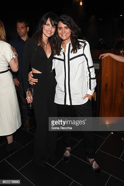 Melissa Coghlan and Stephanie Fabrizi attend the film premiere after party for Serendipity Point Films' 'Below Her Mouth' at Supper Suite by STK on...