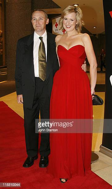 Melissa Doyle and husband John during 'Red Rocks' Red Cross Event at the Westin Hotel July 28 2006 at Westin in Sydney NSW Australia