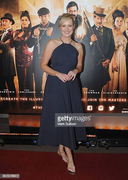Melissa Doyle arrives ahead of the Illusionists 1903 opening night at Sydney Opera House on December 20 2015 in Sydney Australia
