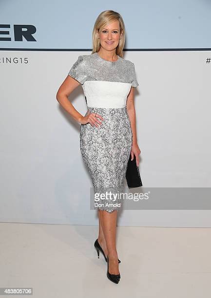 Melissa Doyle arrives ahead of the Myer Spring 2015 Fashion Launch on August 13 2015 in Sydney Australia