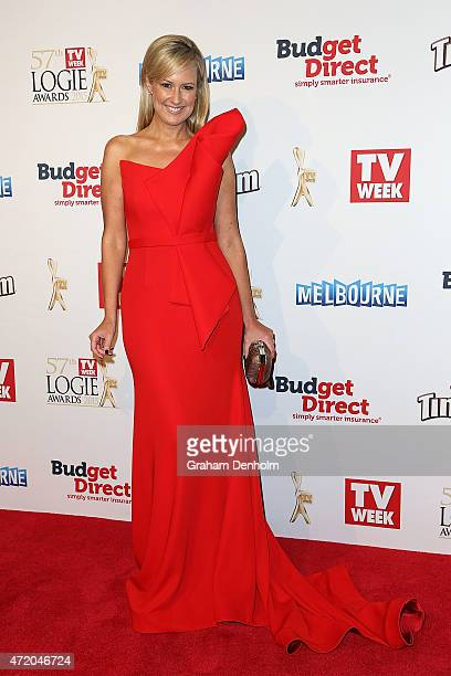 Melissa Doyle arrives at the 57th Annual Logie Awards at Crown Palladium on May 3 2015 in Melbourne Australia