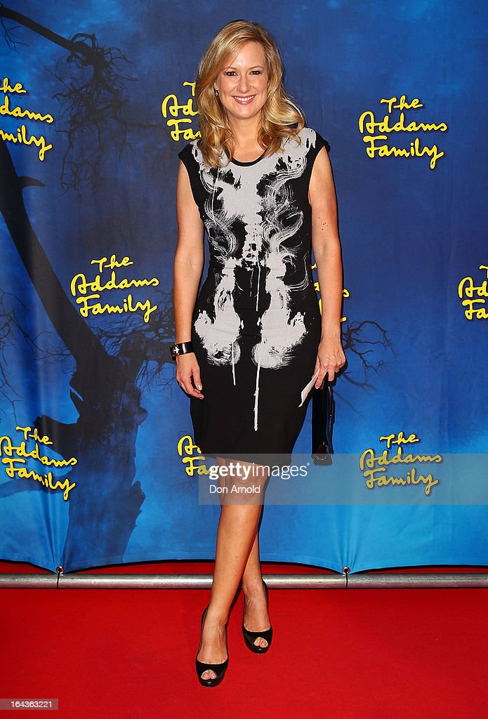 Melissa Doyle arrives for 'The Addams Family' Musical Premiere at the Capitol Theatre on March 23, 2013 in Sydney, Australia.