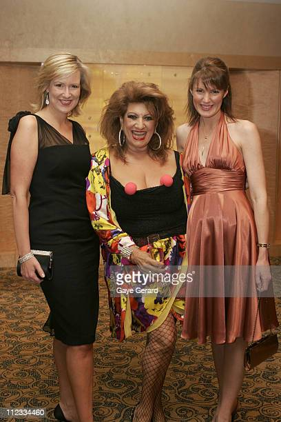 Melissa Doyle Maroa Venutti and Sharyn Ghidella during Patch Adams Charity Auction for Westmead Childrens Hospital at The Children's Hospital at...