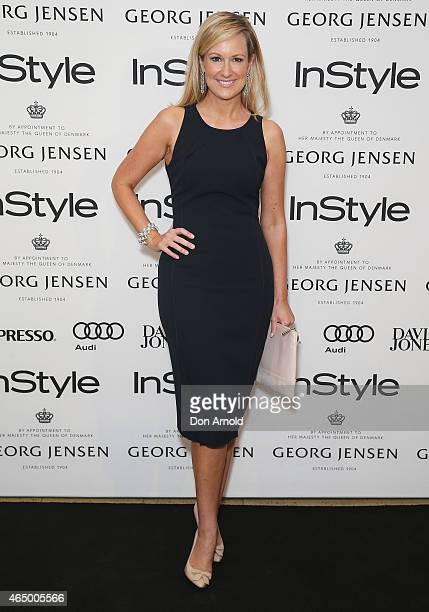 Melissa Doyle poses at the Instyle and Audi Women Of Style Awards nominees cocktail party at Georg Jensen Castlereagh Street on March 3 2015 in...