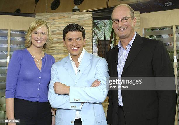 Melissa DoylePatrizio Buanne and David Koch during Patrizio Buanne Visits Chanel 7's 'Sunrise' February 20 2006 at Channel 7 Sydney in Sydney NSW...