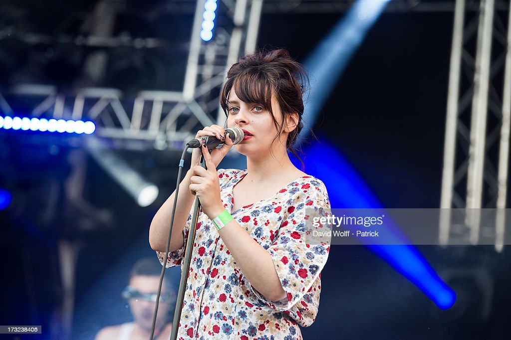 Melissa Dubourg from Granville performs at place de la republique on July 10, 2013 in Paris, France.