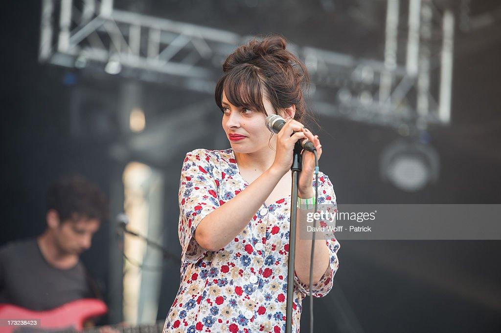 Melissa Dubourg from Granville performs at place de la republique on July 10, 2013 in Paris, France.