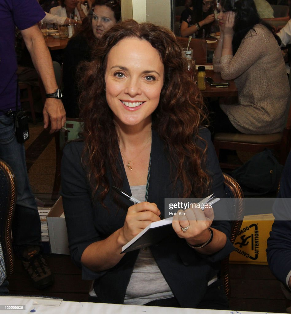 <a gi-track='captionPersonalityLinkClicked' href=/galleries/search?phrase=Melissa+Errico&family=editorial&specificpeople=240611 ng-click='$event.stopPropagation()'>Melissa Errico</a> attends the 25th annual Broadway Flea Market at The Bernard B. Jacobs Theatre on September 25, 2011 in New York City.