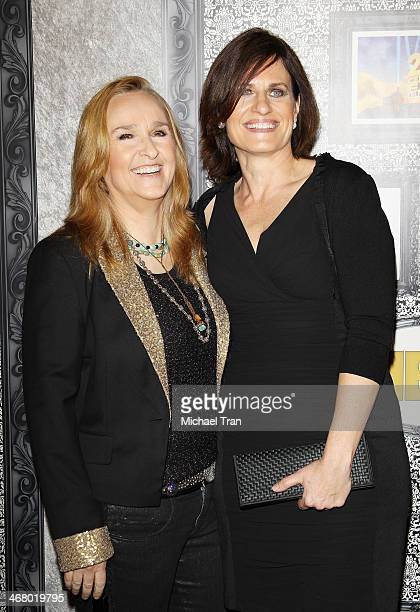 Melissa Etheridge and Linda Wallem arrive at the Family Equality Council's Los Angeles Awards dinner held at The Globe Theatre on February 8 2014 in...