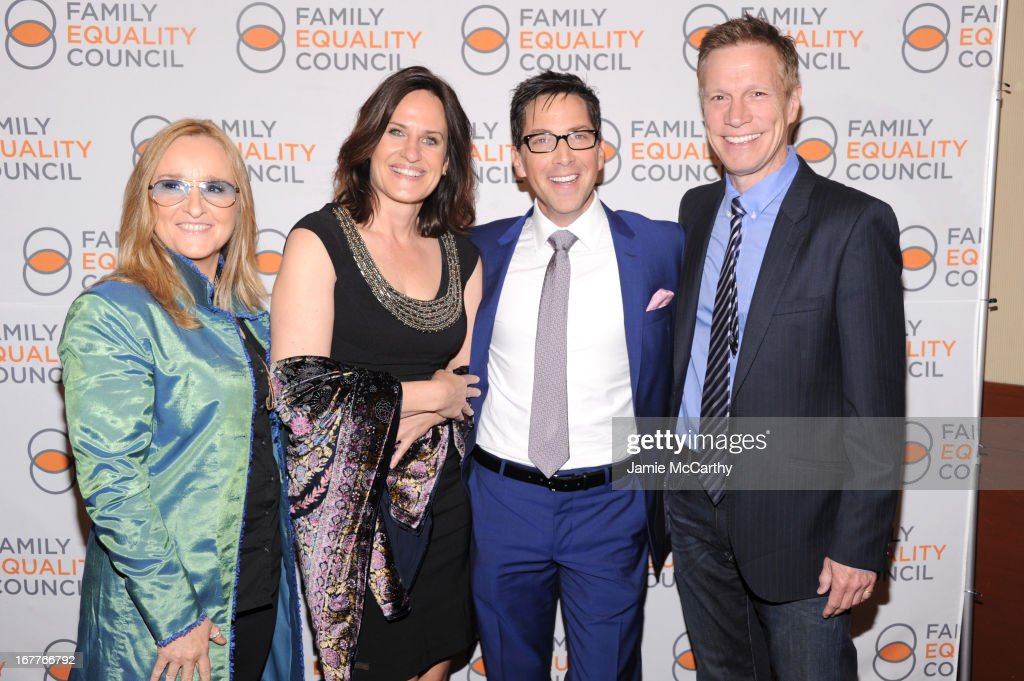 Melissa Etheridge, Linda Wallem, Dan Bucatinsky and Don Roos attend the Family Equality Council's Night at the Pier at Pier 60 on April 29, 2013 in New York City.