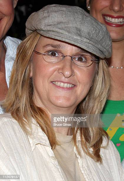 Melissa Etheridge poses backstage at '9 to 5 The Musical' on Broadway at The Marquis Theater on July 11 2009 in New York City