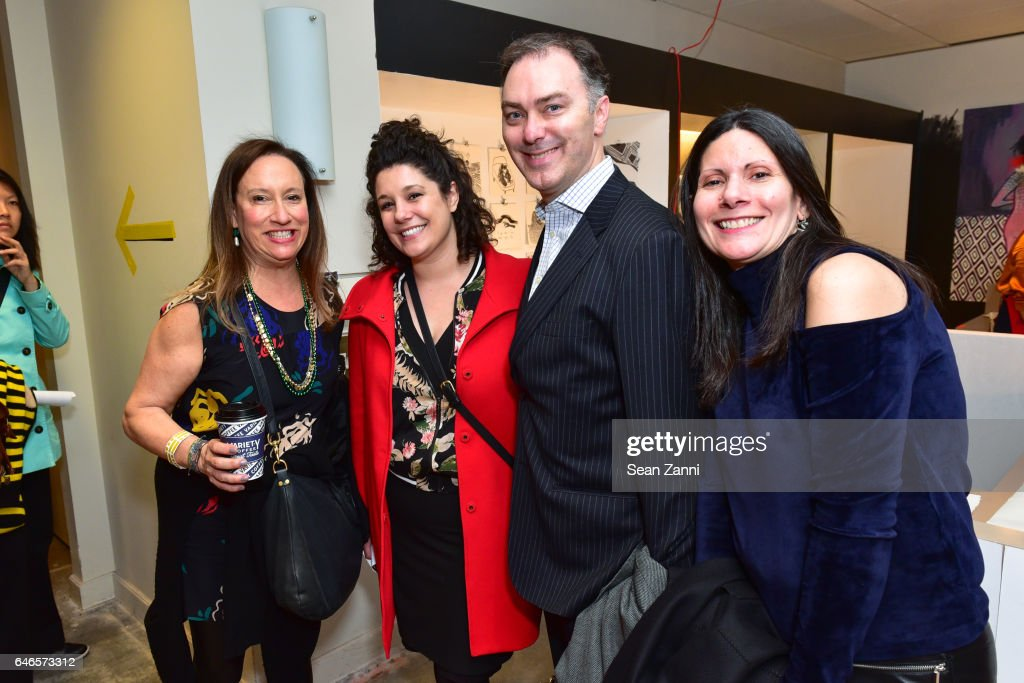 Melissa Feldman, Jessica Wessel, Warren Winegar and Suzanne Siano attend Spring Break Art Fair 2017 Vernissage at 4 Times Square on February 28, 2017 in New York City.