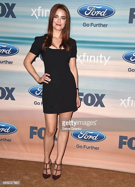Melissa Fumero arrives at the 2014 FOX Fall EcoCasino Party at The Bungalow on September 8 2014 in Santa Monica California