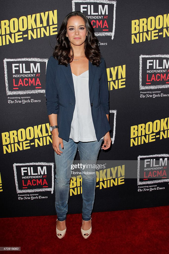 <a gi-track='captionPersonalityLinkClicked' href=/galleries/search?phrase=Melissa+Fumero&family=editorial&specificpeople=5616782 ng-click='$event.stopPropagation()'>Melissa Fumero</a> attends Film Independent's an evening with 'Brooklyn Nine-Nine' at LACMA on May 7, 2015 in Los Angeles, California.