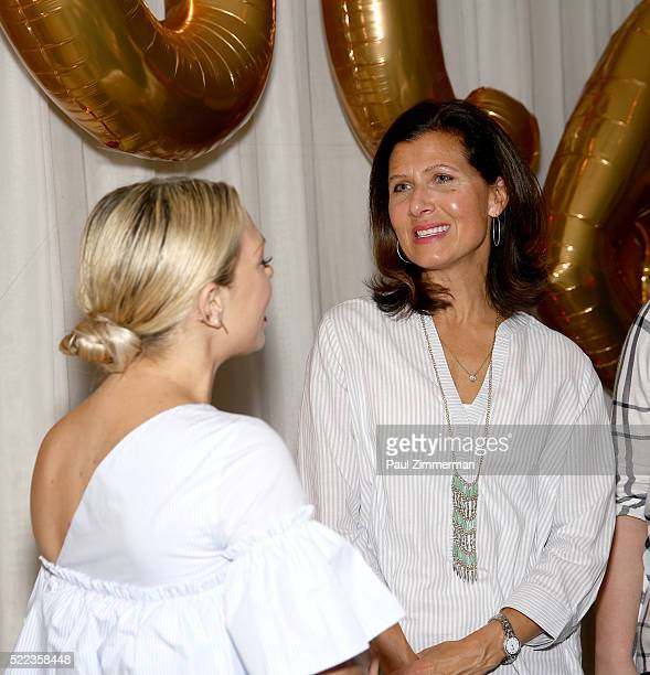 Melissa Garcia and Monica Dahl SVP Marketing Omnichannel PR attend the Diane Gilman Christopher Banks Host Dinner To Celebrate UltraLux Collection...