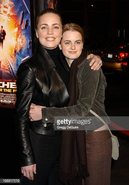 Melissa George and sister Kate during 'Paycheck' World Premiere at Grauman's Chinese Theatre in Hollywood California United States