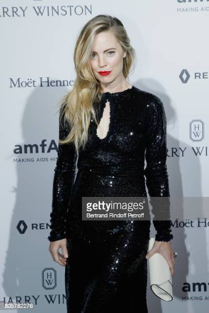 Melissa George attends the amfAR Paris Dinner 2017 at Le Petit Palais on July 2 2017 in Paris France