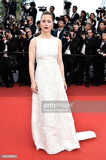 Melissa George attends the 'Cafe Society' premiere and the Opening Night Gala during the 69th annual Cannes Film Festival at the Palais des Festivals...