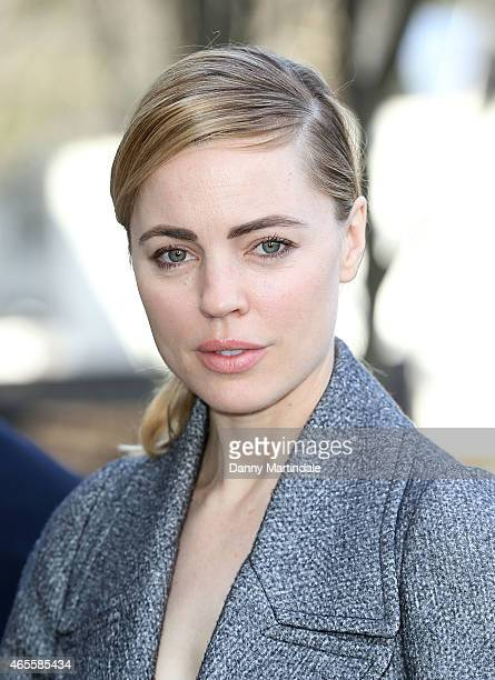 Melissa George attends the Celine show during Paris Fashion Week Fall Winter 2015/2016 on March 8 2015 in Paris France