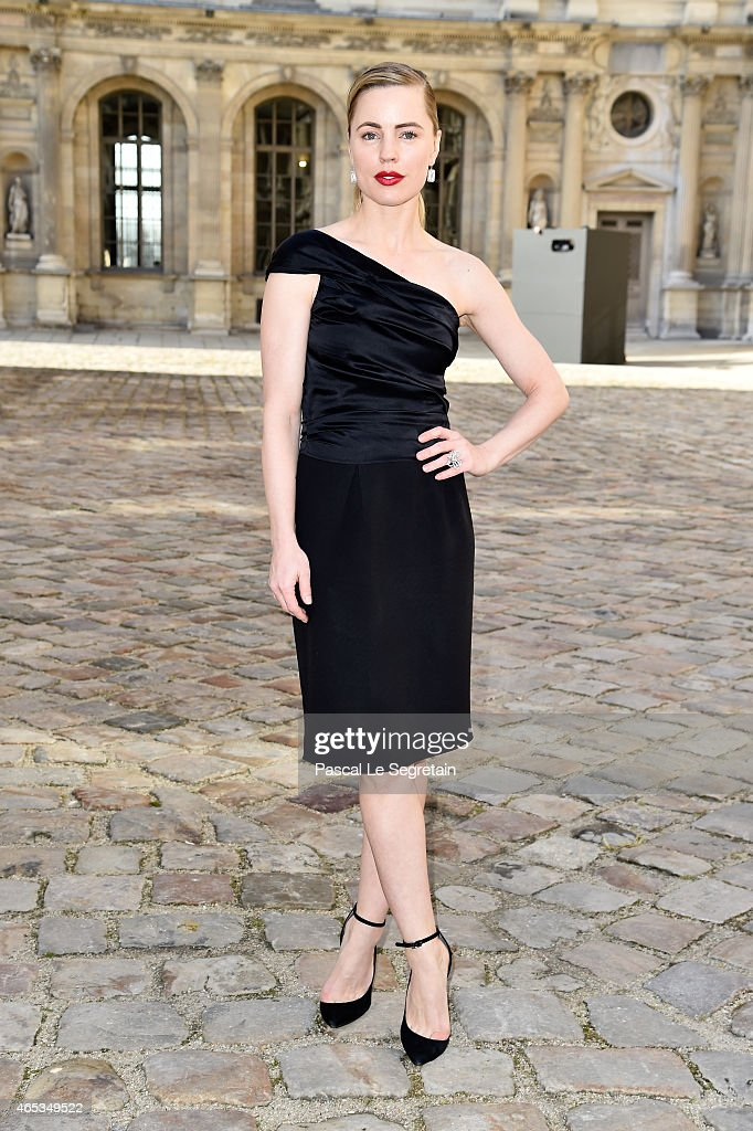 Melissa George attends the Christian Dior show as part of the Paris Fashion Week Womenswear Fall/Winter 2015/2016 on March 6 2015 in Paris France