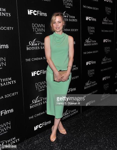 Melissa George attends the Downtown Calvin Klein with The Cinema Society screening of IFC Films' 'Ain't Them Bodies Saints' at Museum of Modern Art...