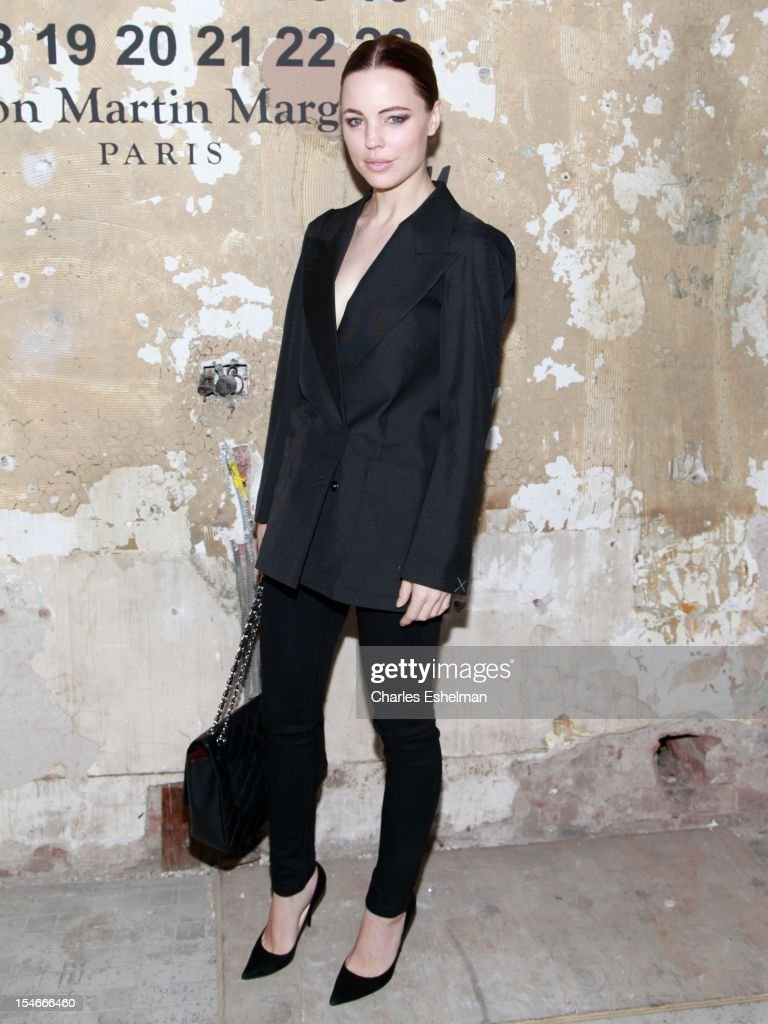 Melissa George attends the Maison Martin Margiela & H&M Global launch party at 5 Beekman on October 23, 2012 in New York City.