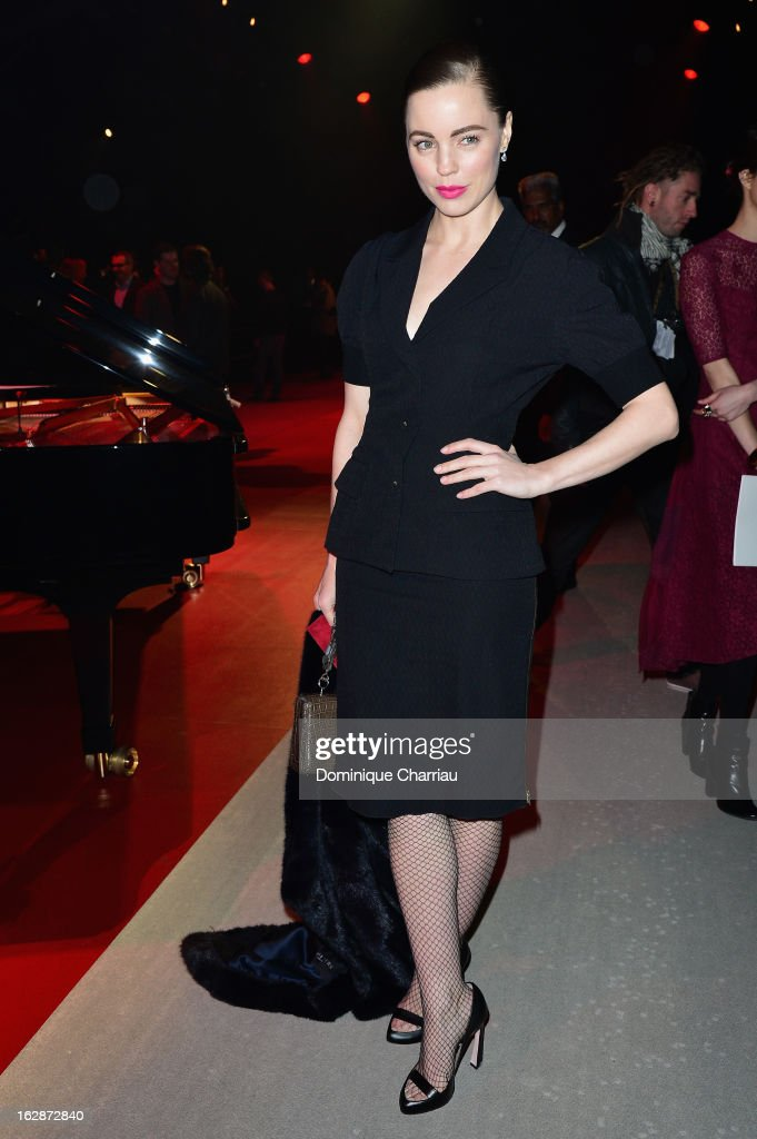 Melissa George attends the Nina Ricci Fall/Winter 2013 Ready-to-Wear show as part of Paris Fashion Week on February 28, 2013 in Paris, France.
