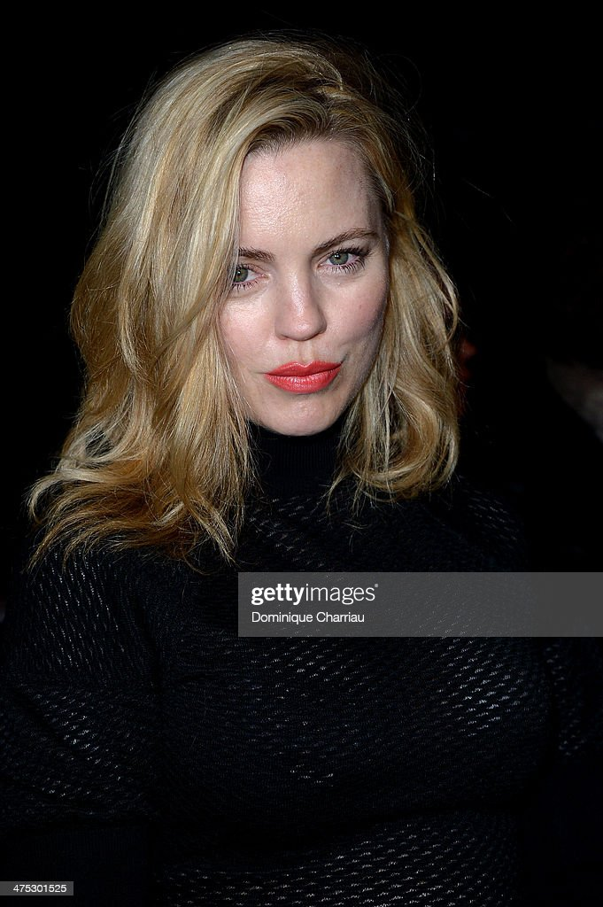 Melissa George attends the Nina Ricci show as part of the Paris Fashion Week Womenswear Fall/Winter 2014-2015 on February 27, 2014 in Paris, France.