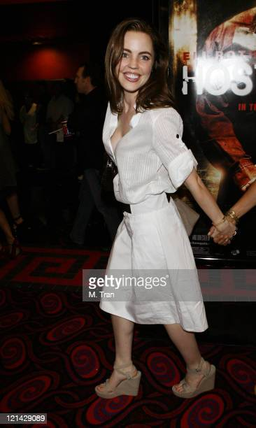 Melissa George during 'Hostel Part II' Los Angeles Premiere Arrivals at Mann's Chinese 6 in Hollywood California United States