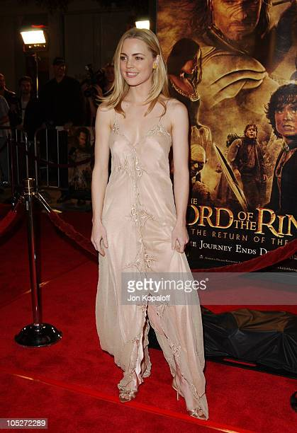 Melissa George during 'The Lord Of The Rings The Return Of The King' Los Angeles Premiere at The Mann Village Theatre in Westwood California United...
