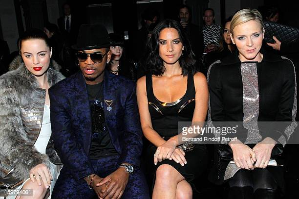 Melissa George NeYo Olivia Munn and Princess Charlene of Monaco attend the Versace Spring/Summer 2013 HauteCouture show as part of Paris Fashion Week...