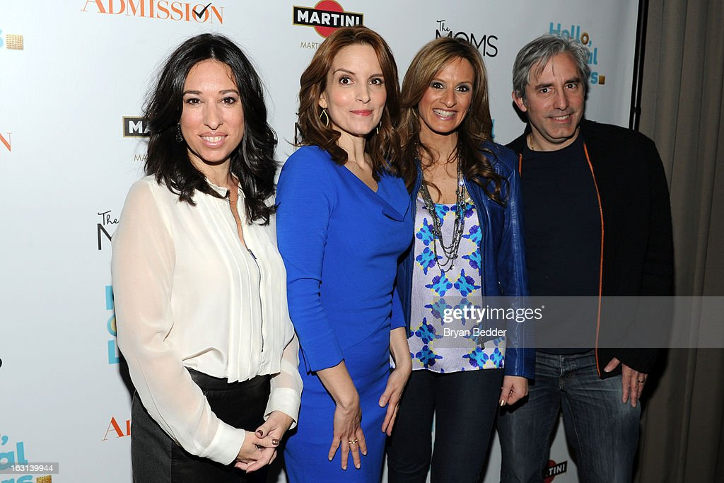 Melissa Gerstein, actress Tina Fey, Denise Albert and director Paul Weitz attend the Moms and MARTINI celebrate Tina Fey and release of her new film, 'Admission' at Disney Screening Room on March 5, 2013 in New York City.