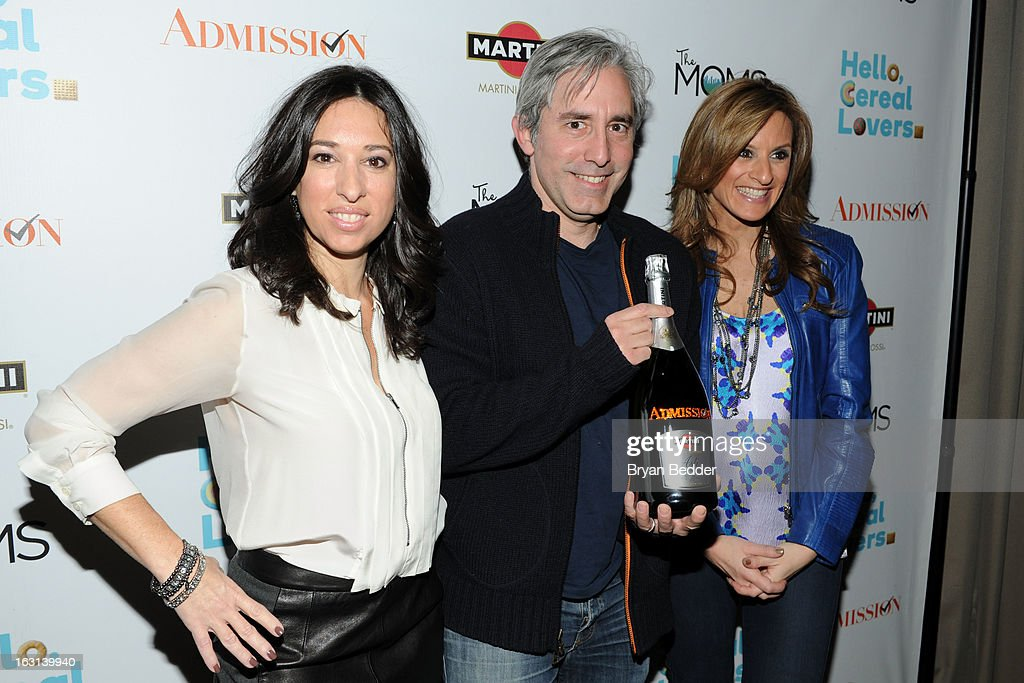 Melissa Gerstein, Director Paul Weitz and Denise Albert attend the Moms and MARTINI celebrate Tina Fey and release of her new film, 'Admission' at Disney Screening Room on March 5, 2013 in New York City.