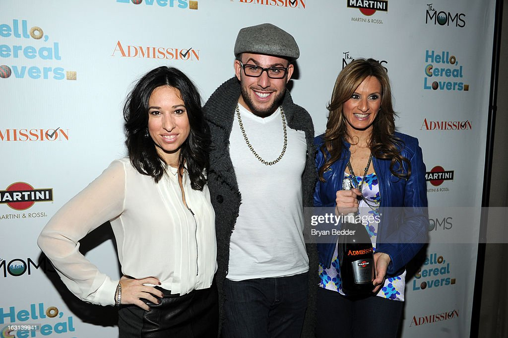 Melissa Gerstein, Micah Jesse and Denise Albert attend the Moms and MARTINI celebrate Tina Fey and release of her new film, 'Admission' at Disney Screening Room on March 5, 2013 in New York City.