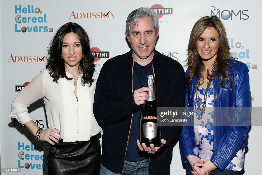 Melissa Gerstein, Paul Weitz and Denise Albert attend The MOMS Celebrate the Release Of 'Admission' at Disney Screening Room on March 5, 2013 in New York City.