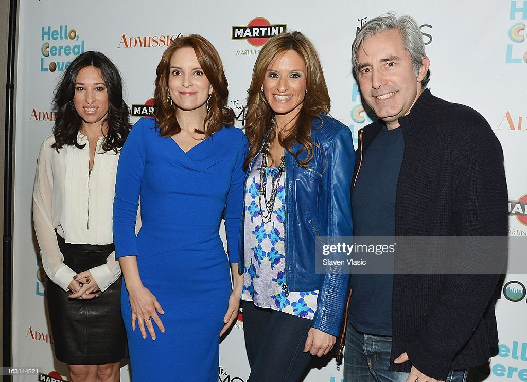 Melissa Gerstein, Tina Fay, Paul Weitz and Denise Albert attend The MOMS Celebrate the Release Of 'Admission' at Disney Screening Room on March 5, 2013 in New York City.