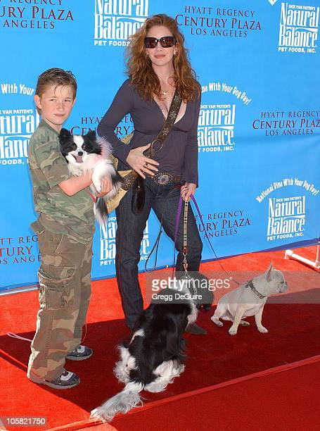 Melissa Gilbert and son Michael during KickOff Party for 'Dine With Your Dog Day' at Hyatt Regency Century Plaza in Century City California United...