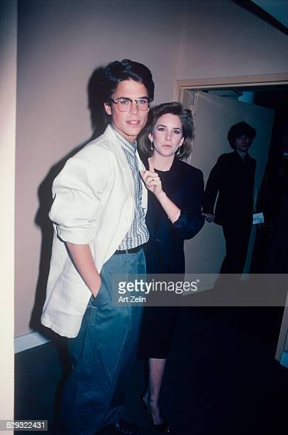 Melissa Gilbert with Rob Lowe backstage circa 1970 New York