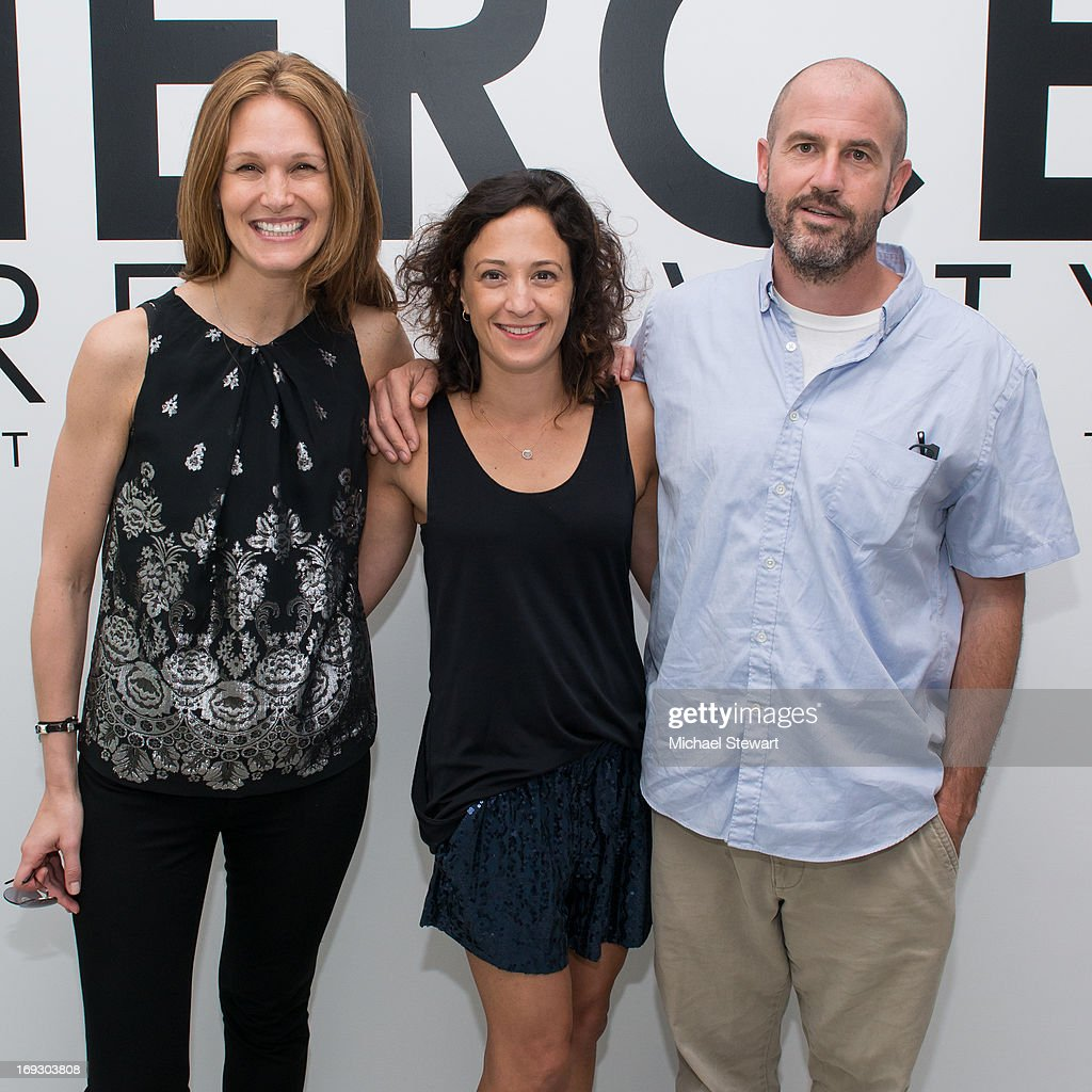 Melissa Goldstein, Maya Frey and <a gi-track='captionPersonalityLinkClicked' href=/galleries/search?phrase=James+Frey&family=editorial&specificpeople=787973 ng-click='$event.stopPropagation()'>James Frey</a> attend the Fierce Creativity Art Exhibition Reception at The Flag Art Foundation on May 22, 2013 in New York City.