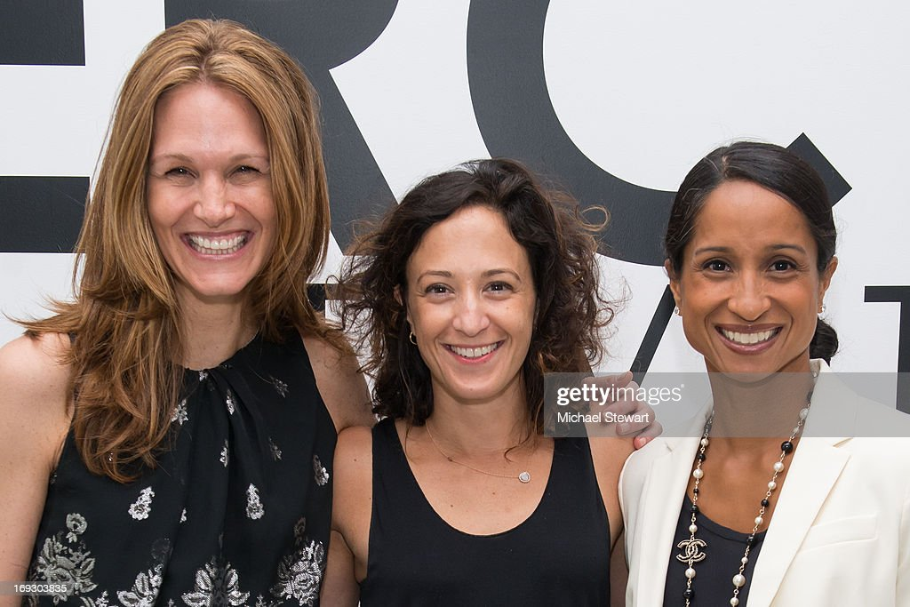 Melissa Goldstein, Maya Frey and Jennifer Mascarenhas attend the Fierce Creativity Art Exhibition Reception at The Flag Art Foundation on May 22, 2013 in New York City.