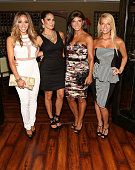 Melissa Gorga Amber Marchese Teresa Giudice and Dina Manzo attend the 'Real Housewives Of New Jersey' Season Six Premiere Party on July 13 2014 in...