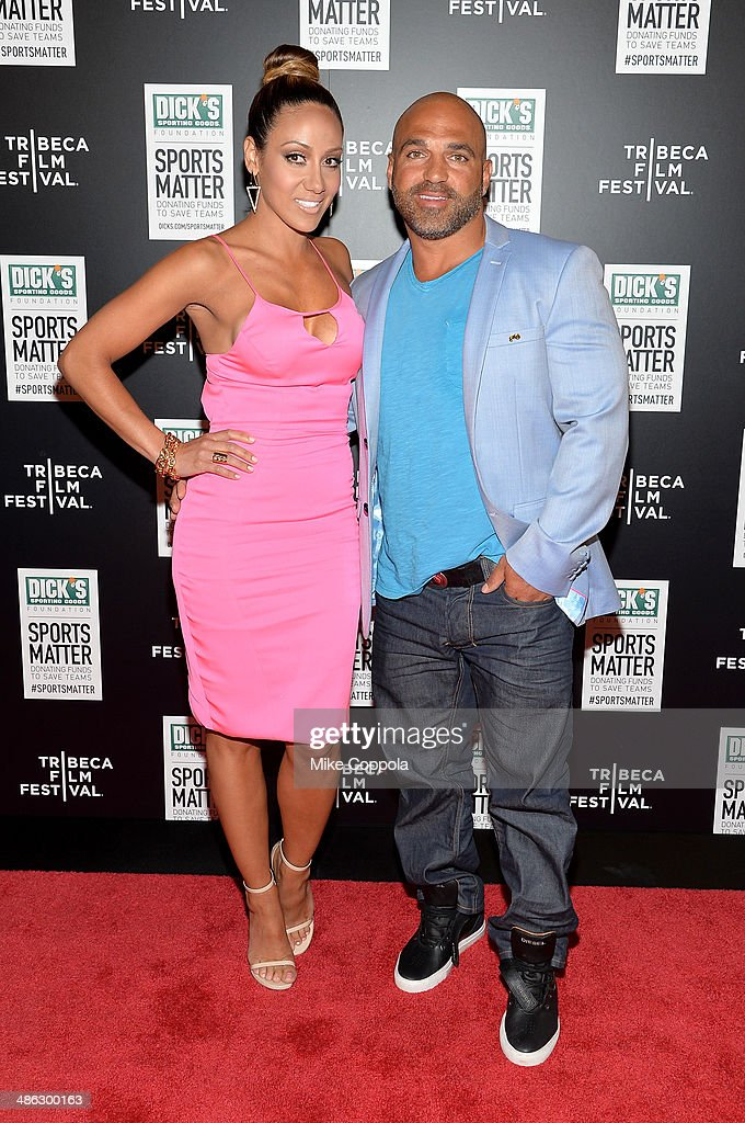 <a gi-track='captionPersonalityLinkClicked' href=/galleries/search?phrase=Melissa+Gorga&family=editorial&specificpeople=7306775 ng-click='$event.stopPropagation()'>Melissa Gorga</a> (L) and <a gi-track='captionPersonalityLinkClicked' href=/galleries/search?phrase=Joe+Gorga+-+Reality+TV+Personality&family=editorial&specificpeople=11336747 ng-click='$event.stopPropagation()'>Joe Gorga</a> attend the Dick's Sporting Goods 'We Could Be King' Premiere during the 2014 Tribeca Film Festival at Sunshine Landmark on April 23, 2014 in New York City.