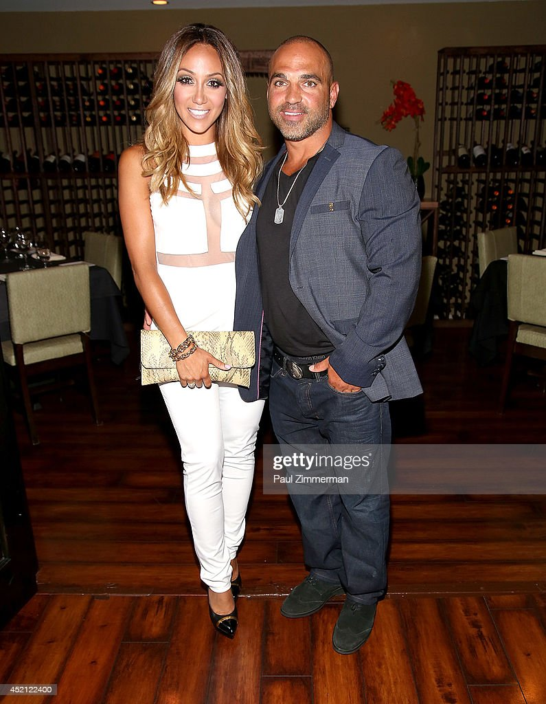 Melissa Gorga and Joe Gorga attend the 'Real Housewives Of New Jersey' Season Six Premiere Party on July 13 2014 in Parsippany New Jersey
