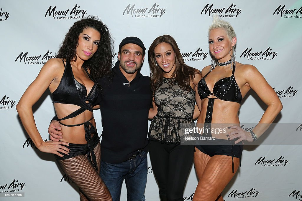 <a gi-track='captionPersonalityLinkClicked' href=/galleries/search?phrase=Melissa+Gorga&family=editorial&specificpeople=7306775 ng-click='$event.stopPropagation()'>Melissa Gorga</a> and Joe Gorga guest host at Gypsies Lounge in Mount Airy Casino Resort on January 19, 2013 in Mount Pocono, Pennsylvania.